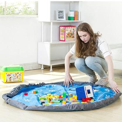 Коврик мешок (сумка) для детских игрушек (затягивается)