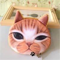 Маленький детский мягкий кошелек из ткани на молнии в виде животных (котик, собака, тигр, мопс)