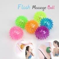 Массажный светящийся мячик с шипами для массажа, игры