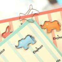 Металлические скрепки в виде животных закладки для книг