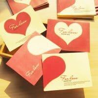 Набор бумажных конвертов с сердцами 10х7,5 см