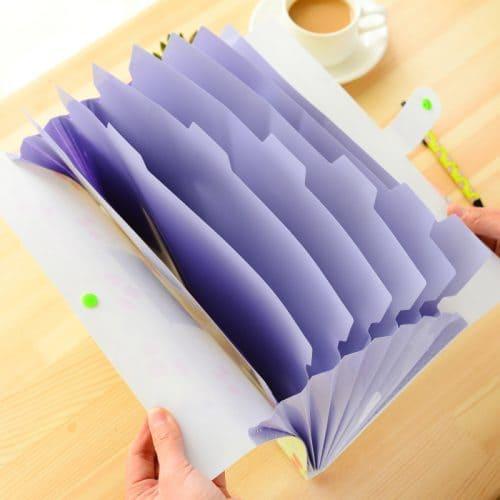 Папка конверт с отделениями для бумаг, документов А4 (5/8 отделений)