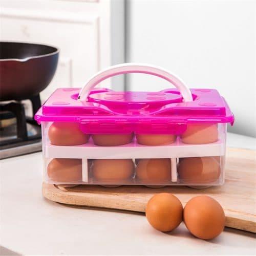 Пластиковый контейнер для хранения куриных яиц в холодильнике