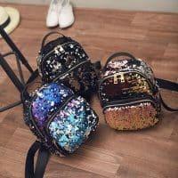 Рюкзак с пайетками (черный и другие цвета)