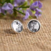 Серьги-гвоздики в виде луны