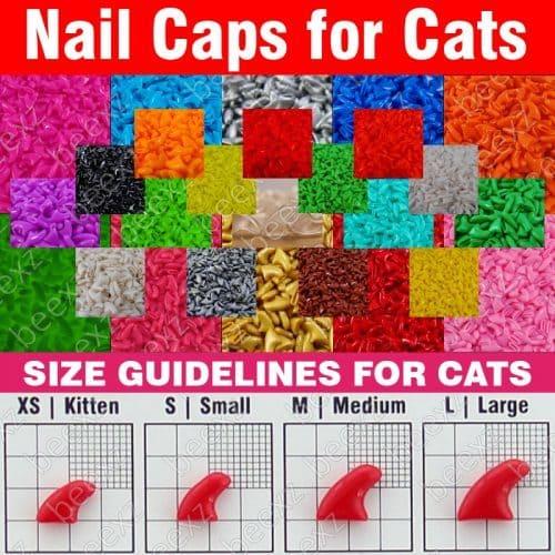 Силиконовые защитные колпачки-антицарапки на когти кошек в наборе