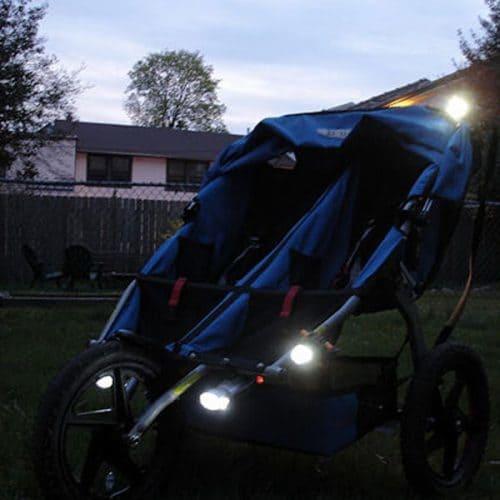 Светодиодные фонарики на детскую коляску