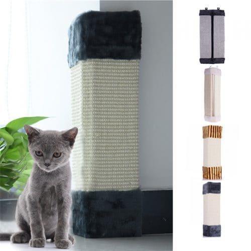 Угловая настенная когтеточка для кошек
