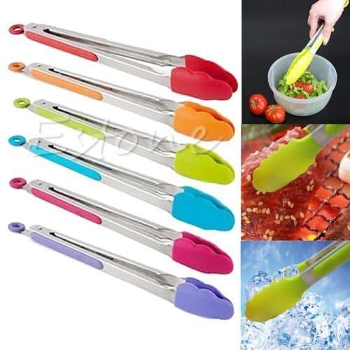 Универсальные кухонные щипцы кулинарные силиконовые для мяса, салата, пирожков, льда