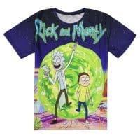 3D футболка из спандекса и полиэстера мужская/женская Рик и Морти (Rick and Morty)