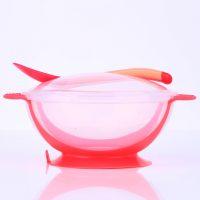 Детская тарелка на присоске с ложкой, которые меняют цвет от высокой температуры
