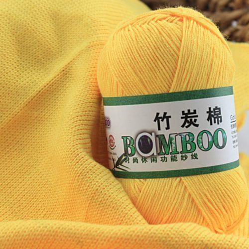 Бамбуковая пряжа нитки 2.0-2.5 мм для вязания спицами, крючком в наборе 10 шт./500 гр