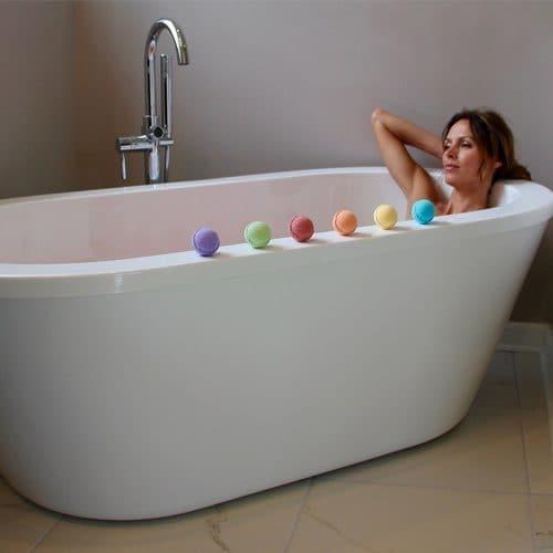 Бомбочка для ванн с эфирными маслами (Роза, Лаванда, Ваниль, Ромашка, Цитрусовые, Жасмин)