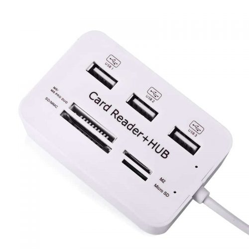 Card Reader + USB 2.0 HUB Combo, картридер + хаб-концентратор