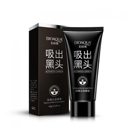 Черная маска-пленка с углем от черных точек Bioaqua black mask