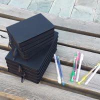 Черный скетчбук блокнот с черными страницами A5/А6