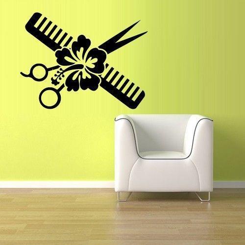 Декоративная виниловая наклейка для клипарта на стену в парикмахерскую