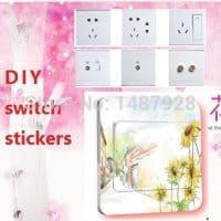 Декоративные наклейки на выключатели и розетки