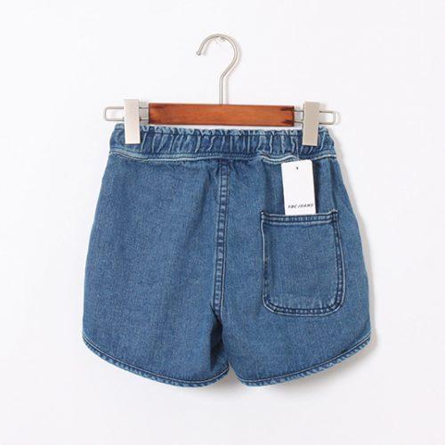 Джинсовые хлопковые женские короткие шорты на завязках