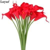 Искусственные декоративные цветы лилии в наборе 10 шт.
