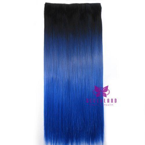 Искусственный накладной шиньон трессы парик волосы на заколках в стиле омбре