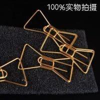 Канцелярские металлические скрепки-закладки в виде бабочки