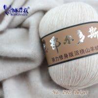 Кашемировая пряжа нитки для ручного вязания спицами, крючком 50 гр