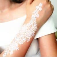 Коричневая, черная, белая хна тату для мехенди на руке