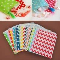 Маленькие бумажные подарочные пакеты 18х13 см для выпечки, подарков в наборе 25 шт.