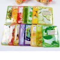 Маска для лица с женьшенем, помидорами, картофелем, маш, медом, коэнзимом q10, коллагеном, экстрактом улитки (в наборе 3 шт.)