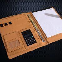 Многофункциональная кожаная папка органайзер для документов А4