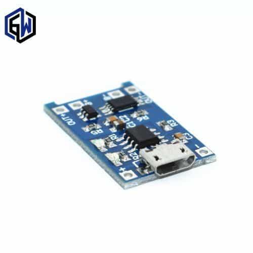 Модуль заряда литиевой батареи Li-ion аккумуляторов TP4056 micro USB