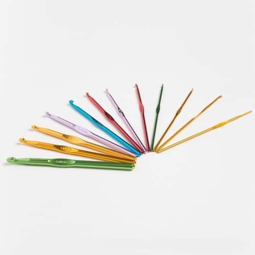 Набор 22 шт. металлических алюминиевых крючков для вязания