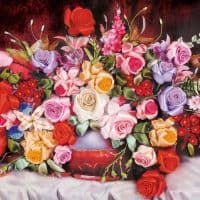 Набор для 3D творчества вышивки лентами Розы