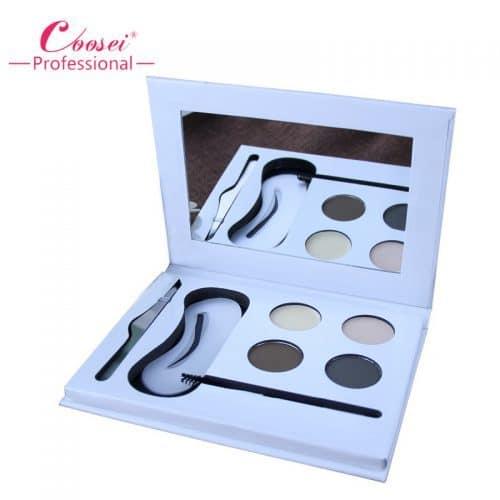 Набор для моделирования-макияжа бровей (тени, пинцет, кисть, трафареты)