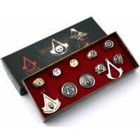 Набор колец и значков Assassins Creed 11 шт.