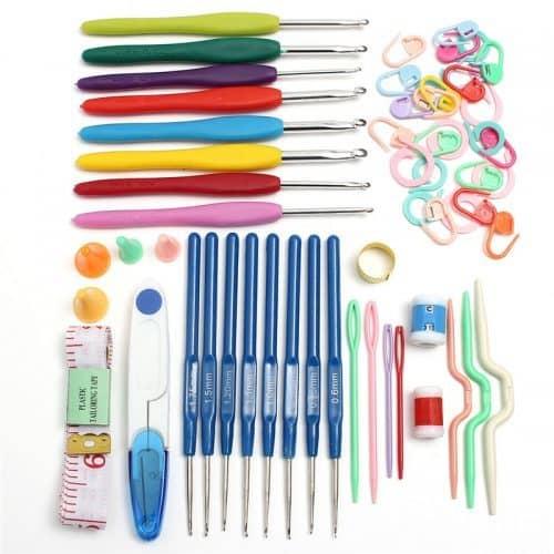 Набор крючков, аксессуров для вязания, рукоделия