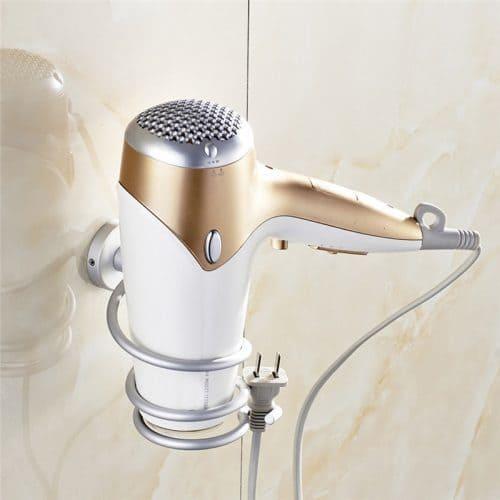 Настенный держатель-спираль-кольцо для фена в ванную комнату