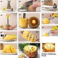 Нож для красивой нарезки ананасов