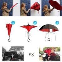 Обратный перевернутый ветрозащитный зонт