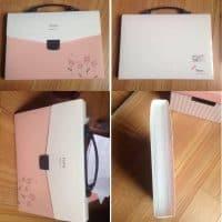Папка портфель для документов А4 с разделителями с ручками женская