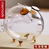 Прозрачная стеклянная копилка для денег в виде свиньи/поросенка
