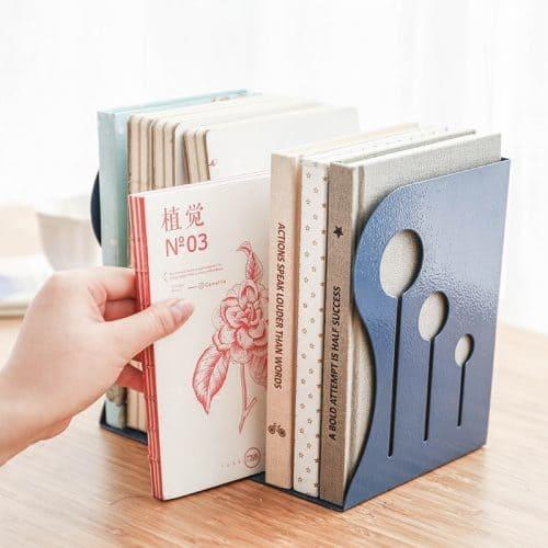 Раздвижная настольная полка держатель для книг, тетрадей