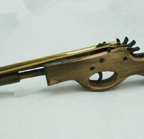 Резинкострел пистолет многозарядный из дерева