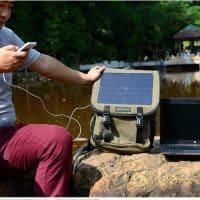 Рюкзак походный с солнечной батареей и USB зарядкой