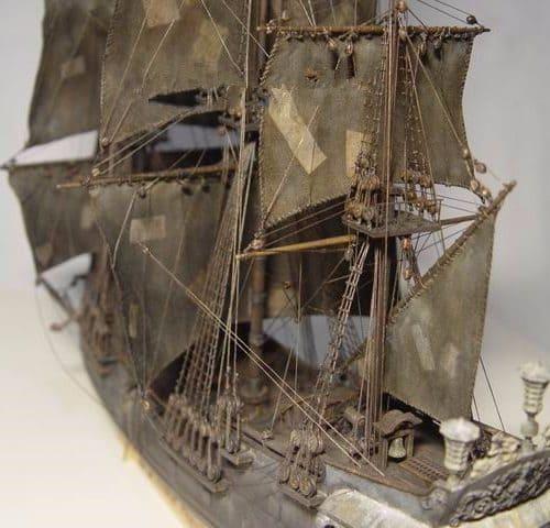 Сборная деревянная модель корабля Джека Воробья Чёрной Жемчужины в масштабе 1/96 (из фильма Пираты карибского моря)