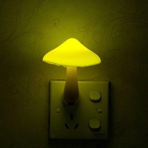 Сенсорный ночник светильник в виде гриба с датчиком света