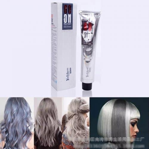 Серая профессиональная краска для волос 100 мл