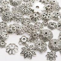 Шапочки-обниматели для бусин ажурные 4-15 мм