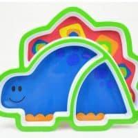 Силиконовые тарелки с разделителями для детей (сова, обезьяна, динозавр, бабочка)
